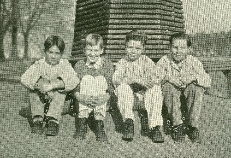 Photo of four boys